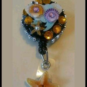 Seashell Badge Holder Handmade